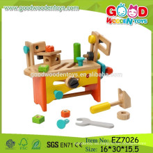 OEM y ODM Niños caja de herramientas conjunto Conjunto de herramientas de juguete de madera para niños Conjunto de herramientas DIY conjunto