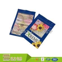 Aluminum Foil Laminated Mylar 3 Side Seal 5g Dried Herbal Pacakging Custom Mini Ziplock Bag