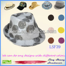 Beautiful Pattern Cotton caps fedora hat cowboy hats cotton hat,LSF39
