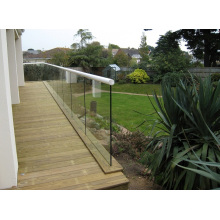 Main-courante de balustrade en verre structurel