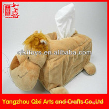 Soft Animal Skin Tissue Box/Plush Animal Lion Tissue Box Cover