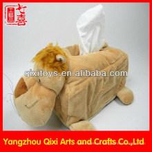 Caixa macia do tecido da pele animal / tampa animal da caixa do tecido do leão do luxuoso