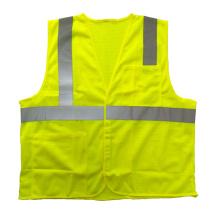 Mesh reflektierende Sicherheit Gelb Weste mit Taschen