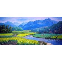Pintura a óleo pintada à mão da paisagem de Formosa