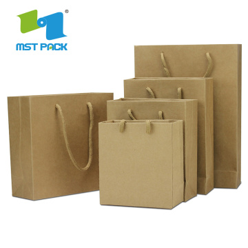 shopping bag in carta stampata con manico