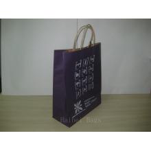 Sac promotionnel en papier Kraft 150GSM avec poignées en papier Twist (hbpb-69)