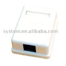 Cat.5e sigle puerto caja de montaje en superficie