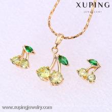 61858-Xuping Fashion Damen Schmuckset mit 18 Karat Vergoldet