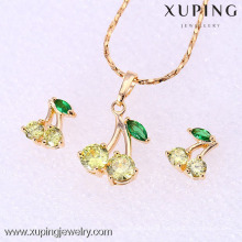 61858-Xuping Fashion Woman Jewlery Set with 18K Gold Plated
