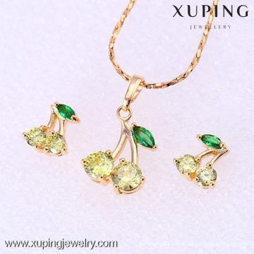 61858-Xuping Moda Mulher Jewlery Set com Banhado a Ouro 18K
