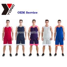 El uniforme del jersey de baloncesto establece kits de uniforme de baloncesto de impresión por sublimación personalizados