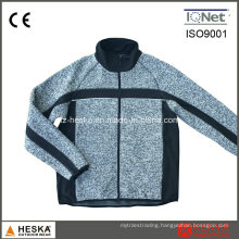 Fleece Anoraks Coarse Needle Mens Knitted Jacket