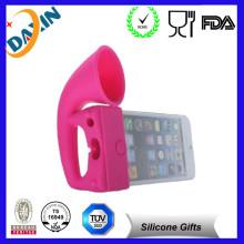 High Quality Mini Creative Silicone Sucker Stand Horn