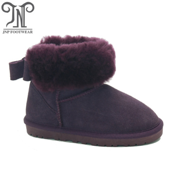Kids Girls Fluffy Suede Ankle Slip On Boots
