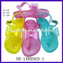 SR-14WR969-1 fashion new kids jelly sandals plastic sandals wholesale kids jelly sandals