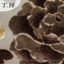 Tissu 100% de velours coupé par tissu tricoté de polyester