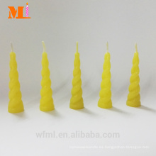 First Class Own Mold Lemon Yellow Unicorn Candle para Cake Wholesale