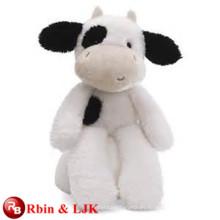 ICTI Audited Factory juguete de vaca negra rellena