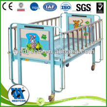 Rectangular frame of head/Foot board with castor Children bed