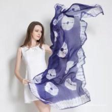 Écharpe teinté à la cravate en soie conforte et douce en paj