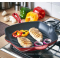 Cast Iron square grill pan with handle