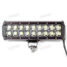 Barra de luz LED para carro 12V 9 polegadas 54W CREE Dual Row LED