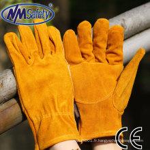NMSAFETY sécurité travail vache split gants de conduite de voiture en cuir