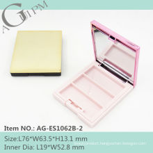 Lovely Rectangular Eye Shadow Case With Mirror AG-ES1062B-2, AGPM Cosmetic Packaging , Custom colors/Logo