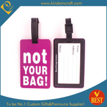 Hot Sale Custom Embossed Logo PVC Luggage Tag