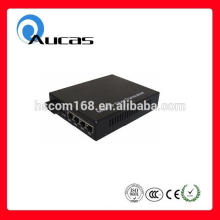 High speed 10/100/1000m 4 ports fiber optic media converter