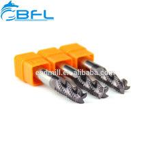 BFL 3 Flute Roughing Fresa Fresa Para Torno CNC