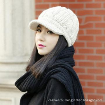 Women Knitted Female Warm Snapback Beanies Twisted Headgear Girl Cap Hat (HW132)