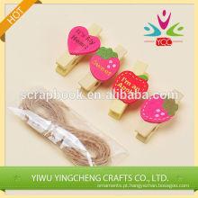 Artesanato madeira 2016 moda Natal alibaba china fornecedor decorativo madeira clip clip de papel