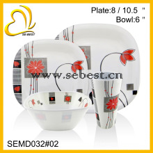 new design full set melamine dinnerware set for wholesale
