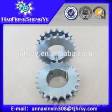 C45 rueda dentada doble de acero con buje cónico con bajo precio