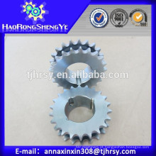Roda dupla de aço C45 com bucha cônica com baixo preço