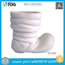 Ceramic White Santa Claus Boots Storage Decoration Christmas
