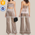 Satin Solid Bandeau & Matching Pants Set Manufacture Wholesale Fashion Women Apparel (TA4033SS)