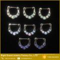 Anillo de Septum de perforación de nariz de moda Anillo de Separación de Opal Slave Jewelry