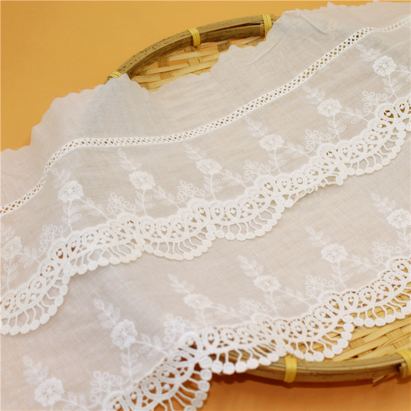 Wave Embroidery Lace Fabric
