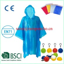 Disposable poncho raincoat for outdoor travelling