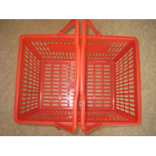 Supermarket New Plastic Shopping Handle Basket