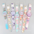 silicone geneva watch flower promotion