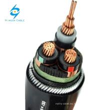 Cable acorazado de 10 kv y tres núcleos de 240 mm2