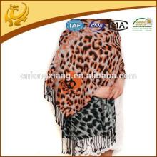 Tecido turco de alta qualidade tamanho grande 100% Material de seda Pashmina Shawl For Lady