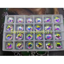 Ab Flat Back Mirror Glass Stones Perles de vêtement (DZ-1031th)