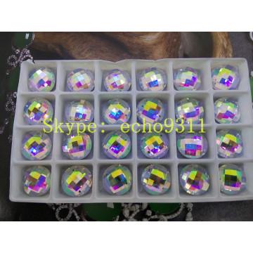 Ab Flat Back Mirror Glass Stones Garment Beads (DZ-1031th)