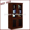 C-6302 glass door wooden bookcase