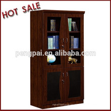 C-6302 glass door wooden bookcase