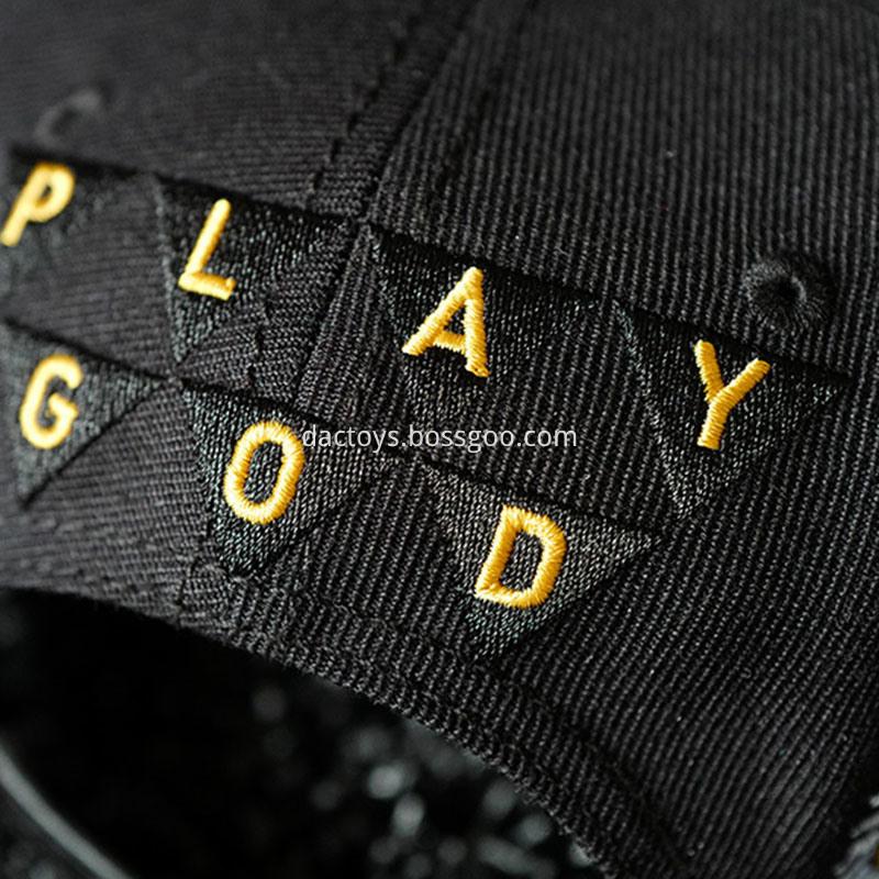 Custom 3d Embroidery Leisure Cotton Snapback Cap 3